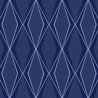 Discontinued York/Stacy Garcia Wallpaper - blue diamond pattern
