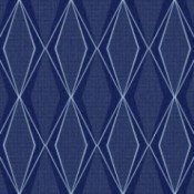 Discontinued York/Stacy Garcia Wallpaper - blue diamond pattern