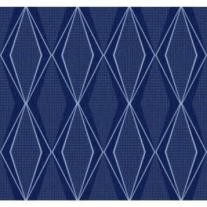 Discontinued York Wallpaper  ST6006 - blue diamond pattern