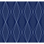 Discontinued York Wallpaper  ST6006 - blue diamond pattern