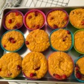 baked Maple Cranberry Corn Muffins