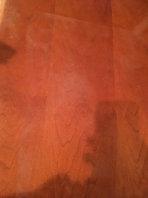 Repairing Water Damage to a Wood Table - whitish light spots on the table