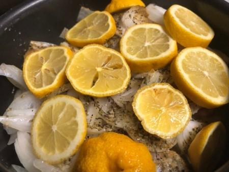 Lemons on Onion Chicken