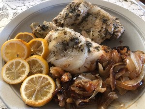 Caramelized Onion Chicken on plate