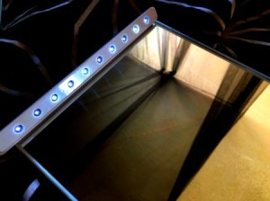 A homemade LED vanity mirror.