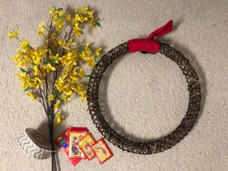 Chinese New Year Wreath - supplies