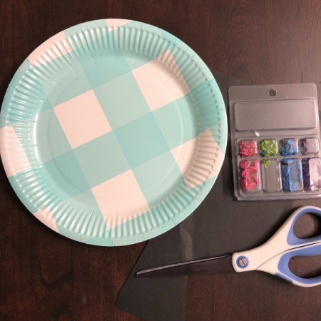 Paper Plate Clock - supplies