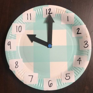 Paper Plate Clock - finished clock