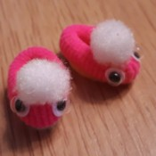 Teeny Tiny Dolly Slippers - two pink tiny doll slippers