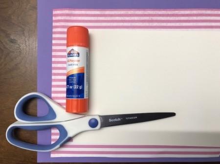 Valentine's Day Paper Craft Card  - supplies