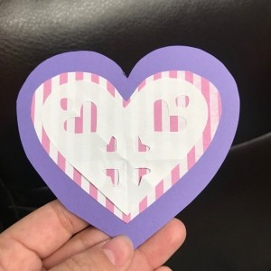 Valentine's Day Paper Craft Card - finished front of the card