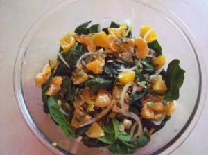 Spinach Orange Salad with Pumpkin Seeds