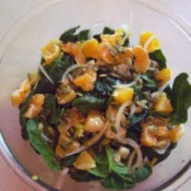 Spinach Orange Salad with Pumpkin Seeds