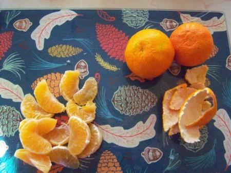separated oranges