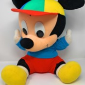 Value of a Mickey Mouse Stuffed Animal  - baby Mickey