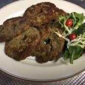 Shami Kabob on plate with garnish