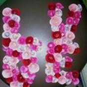 "Floral ""LOVE"" Valentine Decoration"