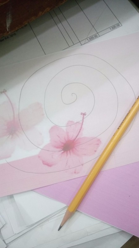 "Floral ""LOVE"" Valentine Decoration - draw a spiral on your  wallpaper - make as many as needed"