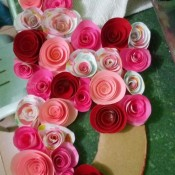 "Floral ""LOVE"" Valentine Decoration - attach the flowers to the letters using hot glue"