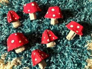 Egg Carton Magic Mushrooms - repeat making as many as you like
