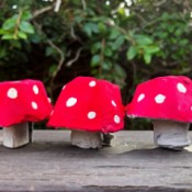 Egg Carton Magic Mushrooms - cute little paper red and white mushrooms