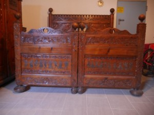 Value of Hand Carved Headboard and Footboard - view from the footboard end