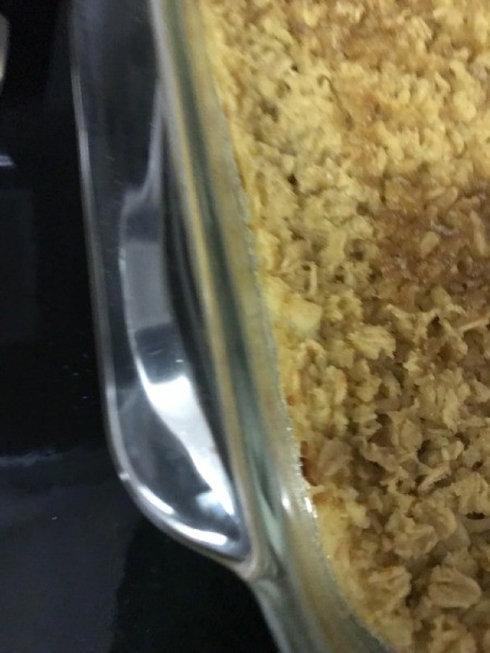 Magic Eraser to Clean Glass Cookware - cleaned area