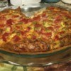Spanish Quiche in pie pan