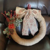 Name Ideas for a Wreath Making Company - fabric wrapped foam Christmas wreath
