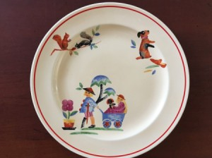 Value of a Homer Laughlin Plate - front of the plate