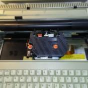Repairing a Silver Reed EZ 20 Typewriter - open typewriter