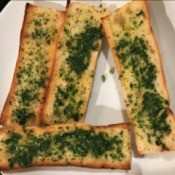 Herb and Garlic Bread Spread on bread