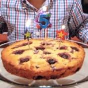 Blackberry Ricotta Cake on plate