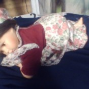 Value of a Knightsbridge Porcelain Doll - doll lying down