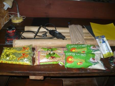 Making a Bamboo Rain Stick - supplies