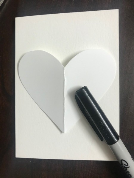 """I Love You To Pieces"" Valentine's Day Card - fold cardstock in half and cut a heart shape to fit on the front"
