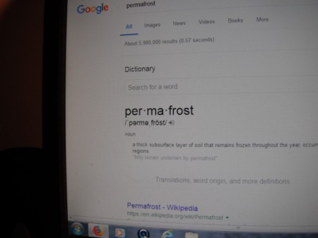Using Your Computer as a Dictionary - on-line dictionary defining permafrost