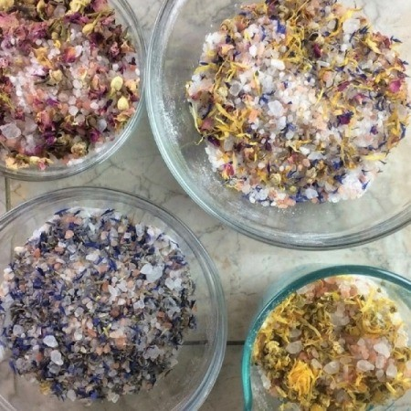 Homemade Bath Products Company Name Ideas - bowls of dry mixes