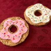 Donut Coasters - two donut shaped coasters