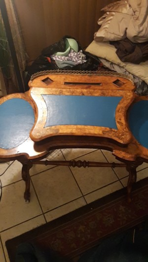 Value of an Antique Writing Table - unique table with raised center