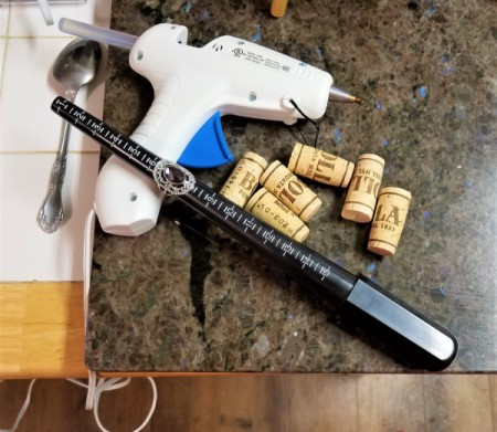 Support a Ring Mandrel with Corks - supplies