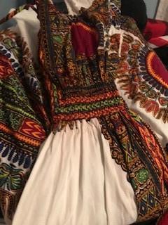 Dress Dye Ran Onto Itself