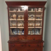 Determining the Age of a China Cabinet - glass door fronted china cabinet