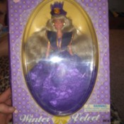 Value of  a Vintage Winter Velvet Barbie Doll Clone - doll in box