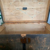 Identifying an Old Trunk - old painted, wooden trunk
