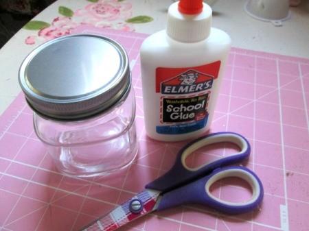 Homemade Mod Podge - supplies