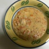 Tuna Cheddar Chowder in bowl