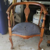 Identifying an Antique or Vintage Chair - wooden chair with upholstered seat