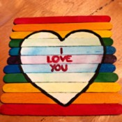 Hand Painted Popsicle Stick Puzzle - puzzle