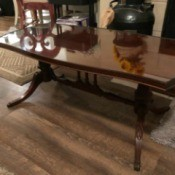 Value of a Mersman Glass Topped Coffee Table